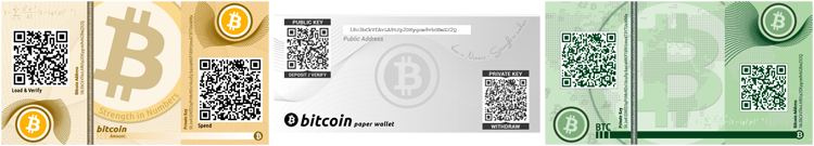Stash tubes for paper bitcoin wallets